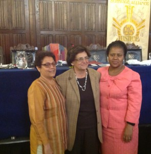 Members of the new board: Treasurer Seema Uplekar, President Joanna Manganara and Secretary-General Mmabatho Ramagoshi