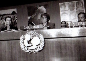 Torild Skard as Chairman of the UNICEF Executive Board