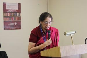 Veena Kohli speaking at CSW59
