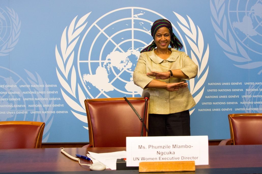 Phumzile Mlambo-Ngcuka, former Executive Director at UN Women. Image by ITU Pictures at https://flickr.com/photos/42121221@N07/29872777410 licensed under the terms of the cc-by-2.0